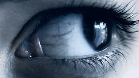 迅速移动妇女的眼睛 影视素材