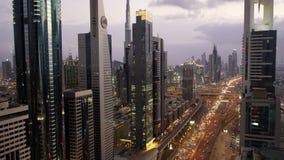 迅速移动从看法在扎耶德Road回教族长&街市在日落 股票视频