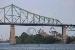 过山车雅克cartier桥梁蒙特利尔 免版税图库摄影
