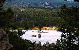 过时的湖 库存照片