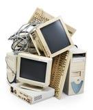 过时的计算机 免版税库存图片