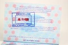 过期的护照 免版税库存图片