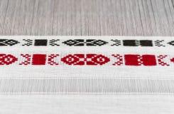 过程中乌克兰传统的刺绣 库存图片