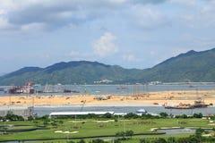 过程中的开垦,香港 库存图片