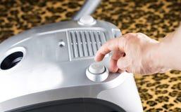过程包括对真空吸尘器 库存图片