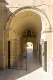 过道在比尔古,马耳他 免版税库存照片