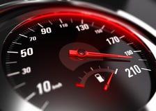 过份加速的粗心大意的驾驶的概念 免版税库存图片