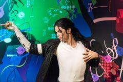 迈克尔・杰克逊在杜莎夫人蜡象馆博物馆的蜡象在伊斯坦布尔 库存图片