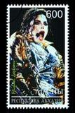迈克尔・杰克逊邮票 免版税库存照片