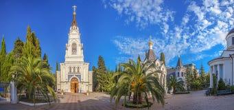 迈克尔大教堂复合体的全景天使在索契,俄罗斯 库存照片
