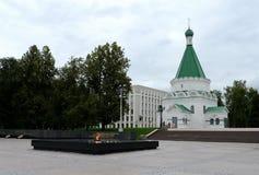 迈克尔天使大教堂在克里姆林宫在下诺夫哥罗德 库存图片