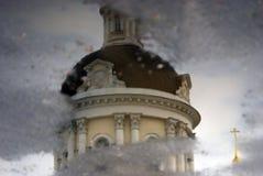 迈克尔天使教会在Kolomna,俄罗斯 水反映 库存图片