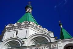 迈克尔天使教会 克里姆林宫在下诺夫哥罗德,俄罗斯 免版税库存照片