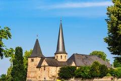 迈克尔教会在历史富尔达,德国 免版税库存图片
