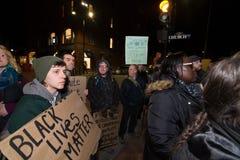 迈克尔・布朗抗议 免版税库存照片