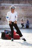 迈克尔・杰克逊光滑的犯罪执行者 免版税图库摄影