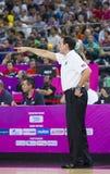 迈克・沙舍夫斯基,美国的教练 免版税库存照片