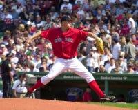 迈克・蒂姆林波士顿红袜 免版税库存照片