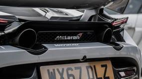 迈凯伦720s排气管 图库摄影