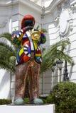 迈尔士・戴维斯雕象在尼斯 免版税库存图片