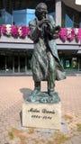 迈尔士・戴维斯 雕象,纪念碑 波兰 凯尔采 库存图片