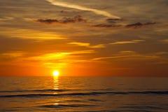 迈尔斯堡海滩,日落 库存照片