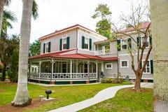 迈尔斯堡, FL-APRIL 15 2016年:迈尔斯堡佛罗里达,爱迪生 免版税库存图片
