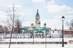 迈拉圣尼古拉斯教会在Rogozhskoye公墓的Wonderworker在莫斯科 库存图片