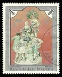 迈森瓷雕象牧羊女和舞蹈家 免版税库存照片