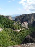 迈泰奥拉的北希腊修道院 免版税图库摄影
