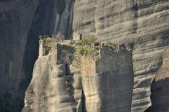 迈泰奥拉的被破坏的修道院 免版税库存照片
