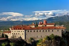 迈泰奥拉,圣斯德望修道院 库存图片