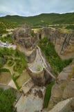 迈泰奥拉-重要岩石修道院复杂在希腊 库存图片