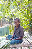 年迈的人工作室外,缅甸 免版税库存照片