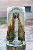 年迈的典型的罗马喷泉 免版税库存照片