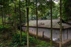 年迈的房子在遮荫森林 库存图片