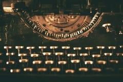 年迈的打字机机器 免版税库存图片
