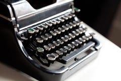 年迈的打字机钥匙 免版税库存照片
