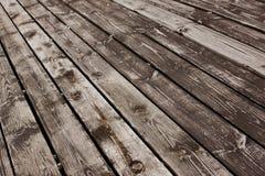 年迈的木地板 免版税库存图片