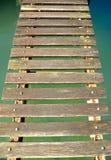 年迈的木码头 免版税库存图片
