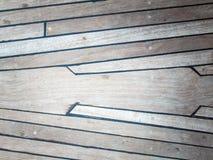 年迈的柚木树甲板 库存照片