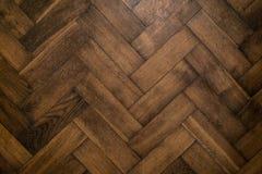 年迈的橡木木地板 免版税库存照片