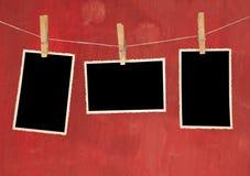 年迈的照片框架 免版税库存照片