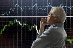 年迈的股票交易商 免版税库存照片