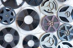 年迈的葡萄酒超级8 mm影片轴背景 图库摄影