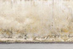 年迈的街道墙壁背景 库存图片