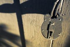 年迈的锁 免版税库存图片