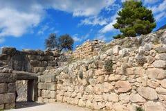 迈锡尼和梯林斯,希腊考古学站点  免版税库存照片