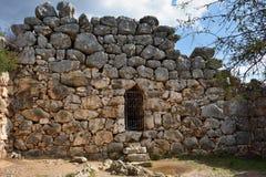 迈锡尼和梯林斯,希腊考古学站点  库存图片