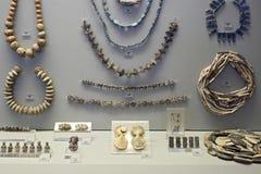 迈锡尼石装饰在考古学博物馆,雅典,希腊 免版税库存照片